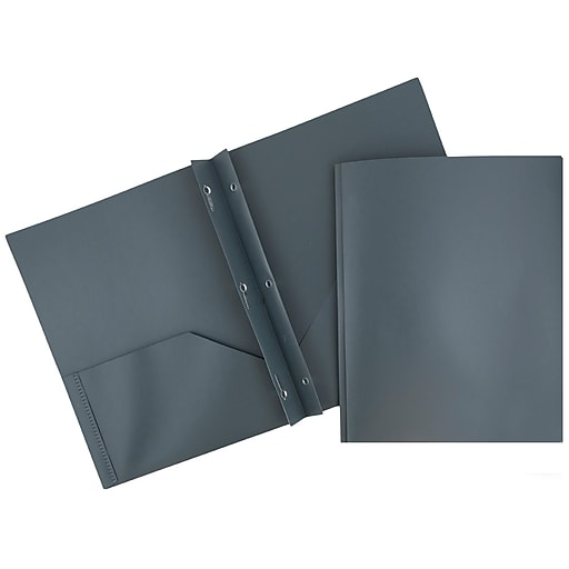 JAM Paper® Plastic Eco Two Pocket Clasp School Folders
