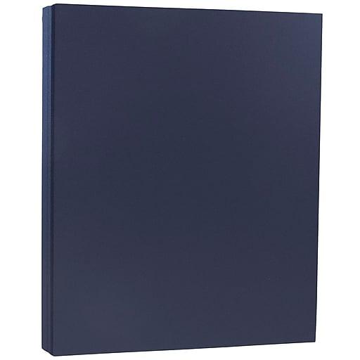 "JAM PAPER Matte Paper, 8 lbs., 8.5"" x 11"", Navy Blue, 5 Sheets/Pack (LEBA242)"