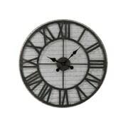"""Tripar Metal 28.25""""Diameter Silver Finish Clock (17986)"""