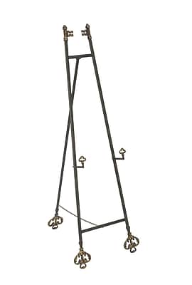 Tripar Metal Black With Gold Floor Easel 52