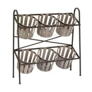 "Tripar Black/Gray Basket  Display 38.75""H x 37.5""W x 13""D (17873)"