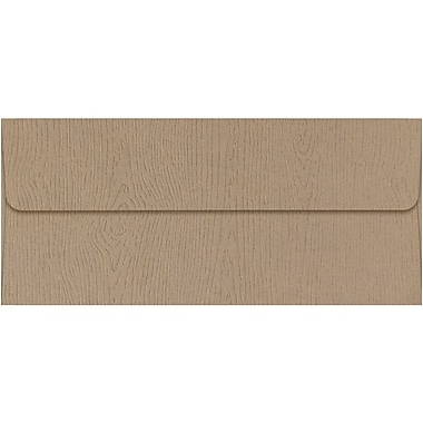 LUX #10 Square Flap Envelopes (4 1/8 x 9 1/2) 50/Pack, Oak Woodgrain (4860-S01-50)