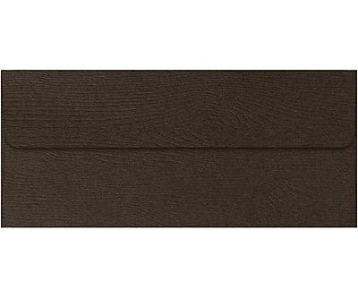 LUX #10 Square Flap Envelopes (4 1/8 x 9 1/2) 50/Pack, Teak Woodgrain (4860-S03-50)