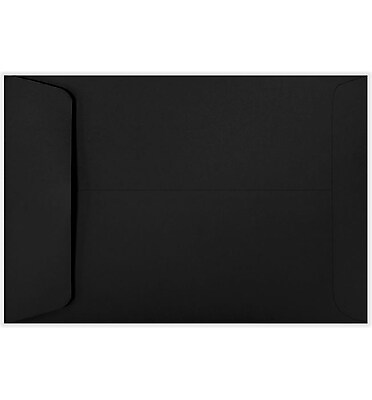 LUX 6 1/2 x 9 1/2 Open End Envelopes 50/Pack, Midnight Black (LUX-1645-56-50)