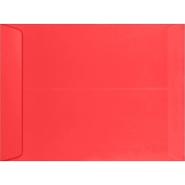 LUX 9 x 12 Open End Envelopes 500/Pack, Electric Cherry (WS-4976-500)