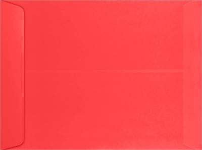 LUX 9 x 12 Open End Envelopes 50/Pack, Electric Cherry (WS-4976-50)