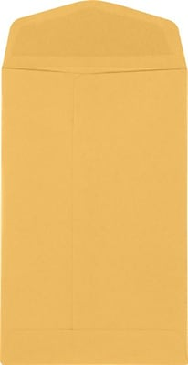 LUX 4 x 6 3/8 Open End - 24lb. Brown Kraft 1000/Pack, 24lb. Brown Kraft (WS-4424-1000)