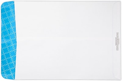LUX 9 x 12 Antimicrobial Open End Envelopes 500/Pack, 24lb. White Wove w/ Antimicrobial Sec. Tint (912-SAT-500)