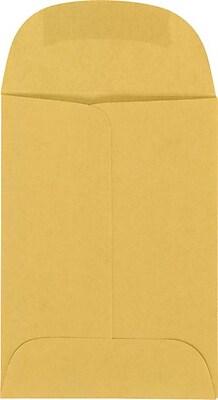 LUX 2 1/2 x 3 1/2 Open End - 24lb. Brown Kraft 250/Pack, 24lb. Brown Kraft (WS-3952-250)