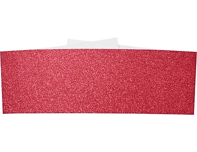 LUX A7 Belly Band 250/Pack, Holiday Red Sparkle (A7BB-MS08-250)