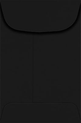 LUX #4 Coin Envelopes (3 x 4 1/2) - Midnight Black 500/Pack, 80lb. Midnight Black (LUX-4CO-B-500)