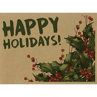 LUX #17 Mini Envelopes (2 11/16 x 3 11/16) 1000/Pack, Happy Holidays! (LEVC-GBH04-1000)