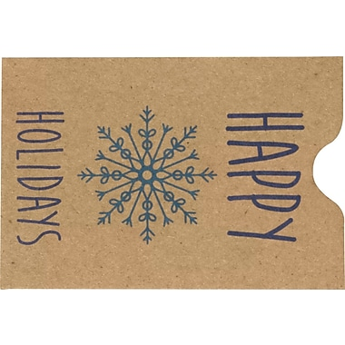 LUX Credit Card Sleeve Envelopes (2 3/8 x 3 1/2) 1000/Pack, Happy Holidays (1802-GBH01-1000)