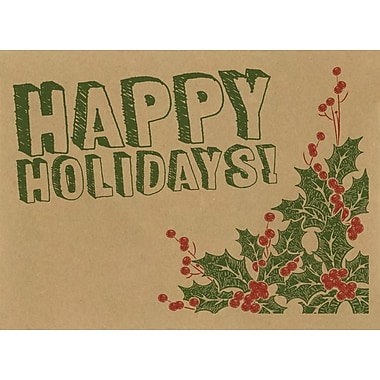 LUX #17 Mini Envelopes (2 11/16 x 3 11/16) 500/Pack, Happy Holidays! Drawing (LEVC-GBH05-500)