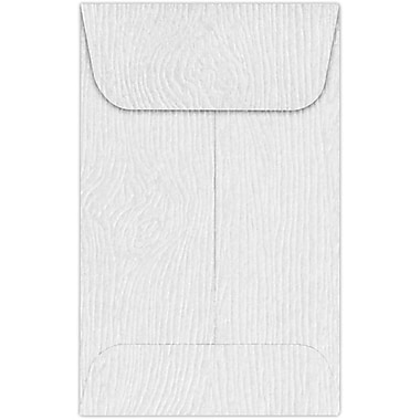 LUX #1 Coin Envelopes (2 1/4 x 3 1/2) 250/Pack, White Birch Woodgrain (1COS02-250)