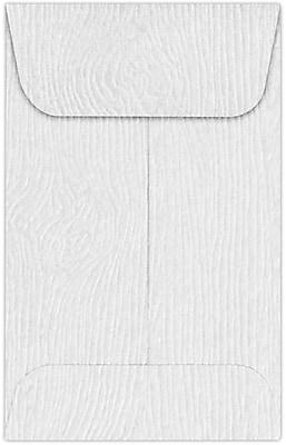 LUX #1 Coin Envelopes (2 1/4 x 3 1/2) 250/Pack, White Birch Woodgrain (1COS02-250)