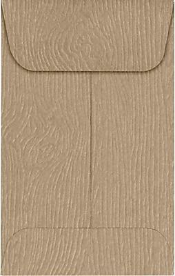 LUX #1 Coin Envelopes (2 1/4 x 3 1/2) 1000/Pack, Oak Woodgrain (1COS01-1000)