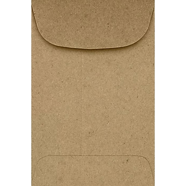 LUX #4 Coin Envelopes (3 x 4 1/2) - Grocery Bag 250/Pack, 70lb. Grocery Bag (4CO-GB-250)