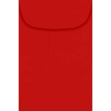 LUX #4 Coin Envelopes (3 x 4 1/2) - Ruby Red 50/Pack, 80lb. Ruby Red (LUX-4CO-18-50)