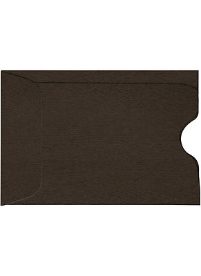 LUX Credit Card Sleeve (2 3/8 x 3 1/2) 250/Pack, Teak Woodgrain (1801-S03-250)