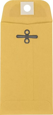 LUX #3 Coin Clasp Envelope 250/Pack, 32lb. Brown Kraft (WS-5472-250)