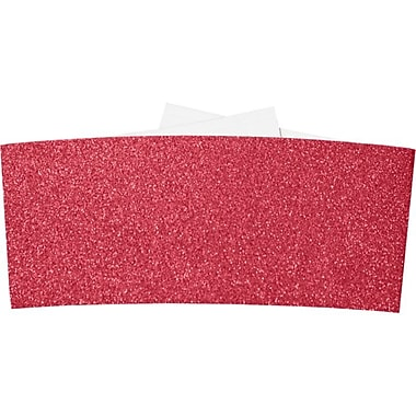 LUX 6-1/4 Belly Bands, Holiday Red Sparkle