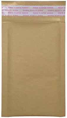LUX #0 LUX Kraft Bubble Mailer Envelopes 250/Pack, Grocery Bag (LUX-KGBBM-0-250)