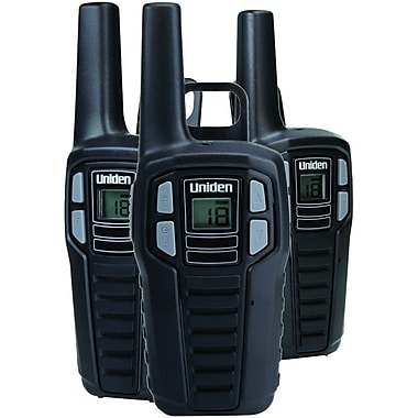 Uniden Sx167-3ch 16-mile 2-way Frs/gmrs Radios (3 Pk with 9 Batteries)