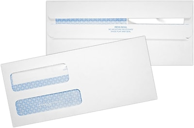 LUX #9 Double Window Envelopes - Redi-Seal (8 13/16 x 3 7/8) 50/Pack, 24lb. White w/ Security Tint (24529-50)