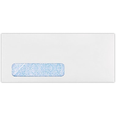 LUX #10 Window Envelopes(4 1/8 x 9 1/2) 500/Pack, 24lb. White w/ Sec Tint (WS-3145-500)