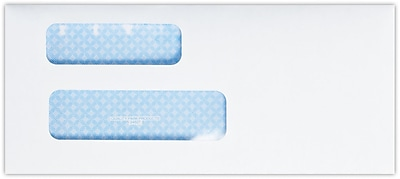 LUX #9 Double Window Envelopes (8 13/16 x 3 7/8) 250/Pack, 24lb. Bright White w/ Sec. Tint (9DW-W-250)