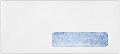 LUX #10 Right Side Window Envelopes(4 1/8 x 9 1/2) 1000/Pack, 24lb. Bright White w/ Sec Tint (21438-1000)