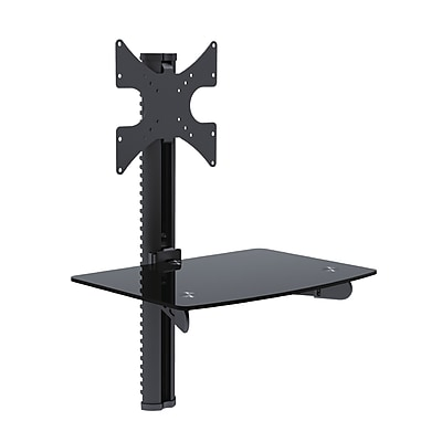 TygerClaw Single AV Component Shelving and TV Bracket Wall Mount