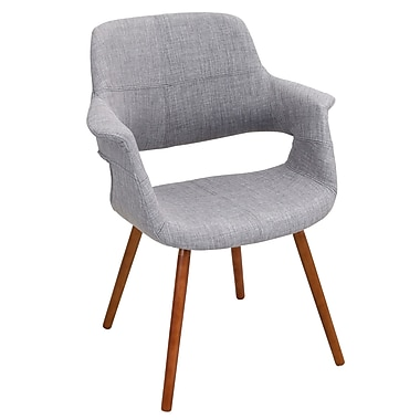 LumiSource Vintage Flair Mid Century Modern Counter Chair in Light Grey (CHR-JY-VFL LGY)