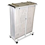 AdirOffice Steel Mobile Vertical Plan Center For Blueprints, White (614-WHI)