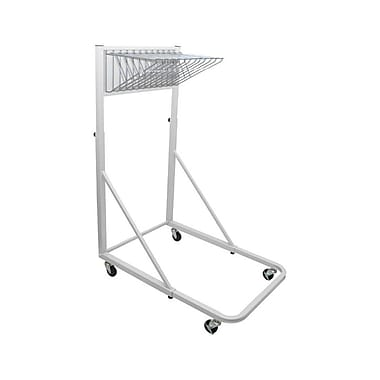 Adir Vertical File Rolling Stand with 12 Brackets White (613-WHI)