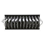 Adir Pivot Wall Rack with Hangers Black For Blueprints (617-BLK)