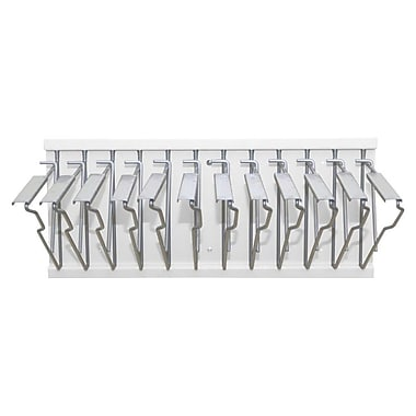 Adir Pivot Wall Rack with Hangers White for Blueprints (617-WHI)