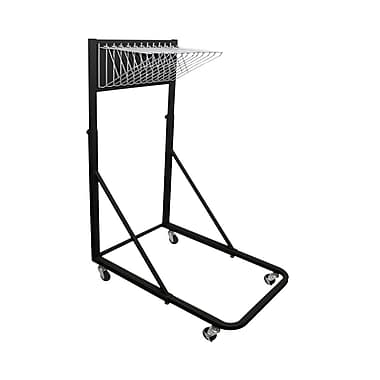 Adir Vertical File Rolling Stand with 12 Brackets Black (613-BLK)