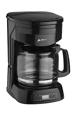 AdirChef 12-Cup Programmable Coffeemaker, Black (800-12-BLK)
