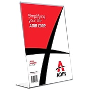 """AdirOffice Sign Holder, 8.5"""" x 11"""", Clear Acrylic, 12/Pack (639-8511-12)"""