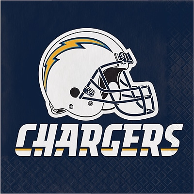 Nfl San Diego Chargers Napkins 16 Pk 669526 Staples