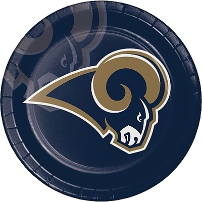 NFL Los Angeles Rams Paper Plates 8 pk (429529)