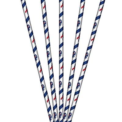 NFL Buffalo Bills Paper Straws 24 pk (316457)