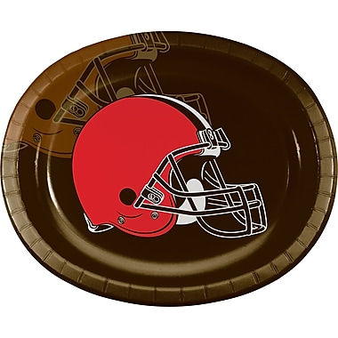 NFL Cleveland Browns Oval Plates 8 pk (316651)