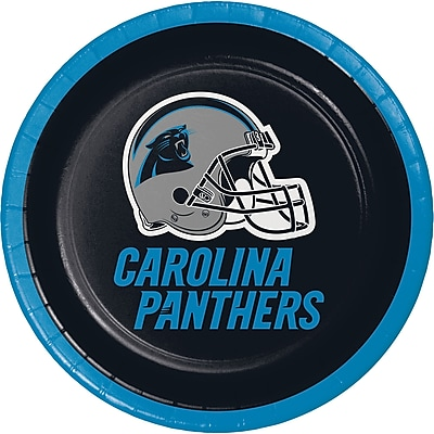 NFL Carolina Panthers Dessert Plates 8 pk (419505)