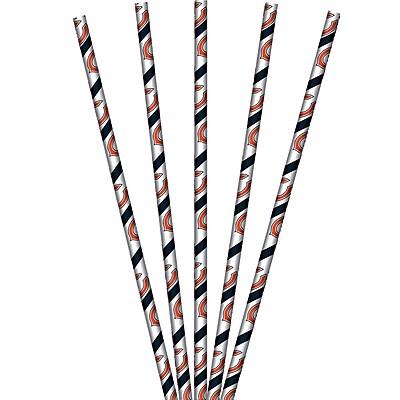 NFL Chicago Bears Paper Straws 24 pk (059506)