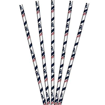 NFL New England Patriots Paper Straws 24 pk (059519)