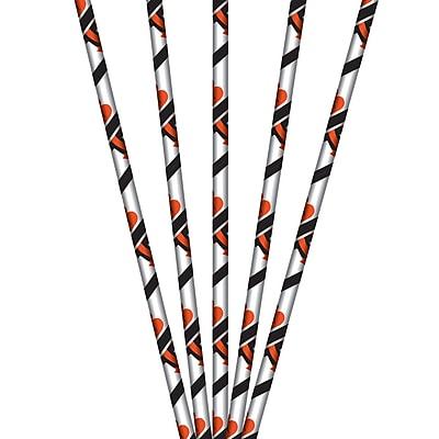 NFL Cincinnati Bengals Paper Straws 24 pk (316456)