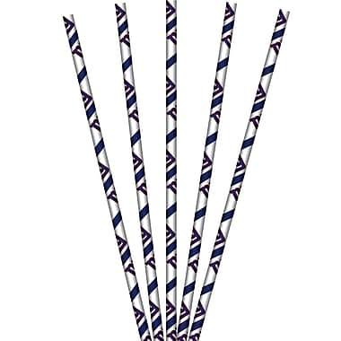 NFL New York Giants Paper Straws 24 pk (059521)
